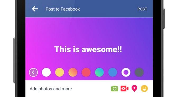 Facebook se colore !