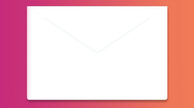 Formulaire de contact en enveloppe