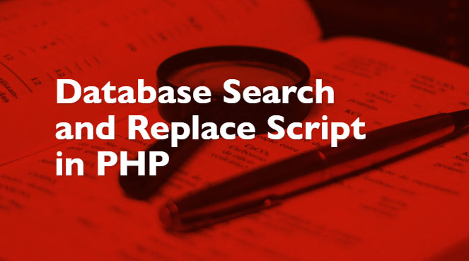 Search & Replace Databases