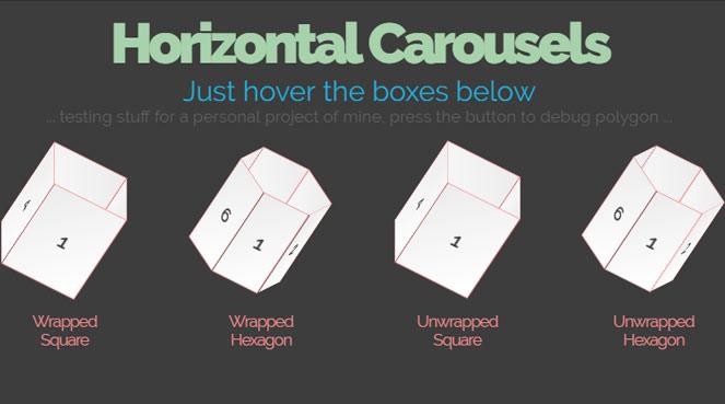 Horizontal 3D Carousels