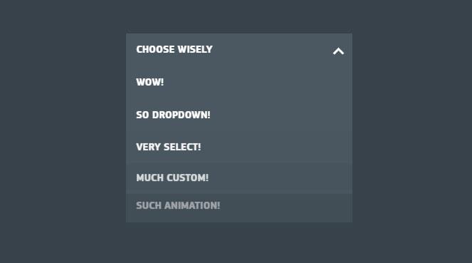Custom select box